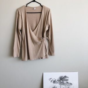 Old Navy: Beige Corduroy blouse